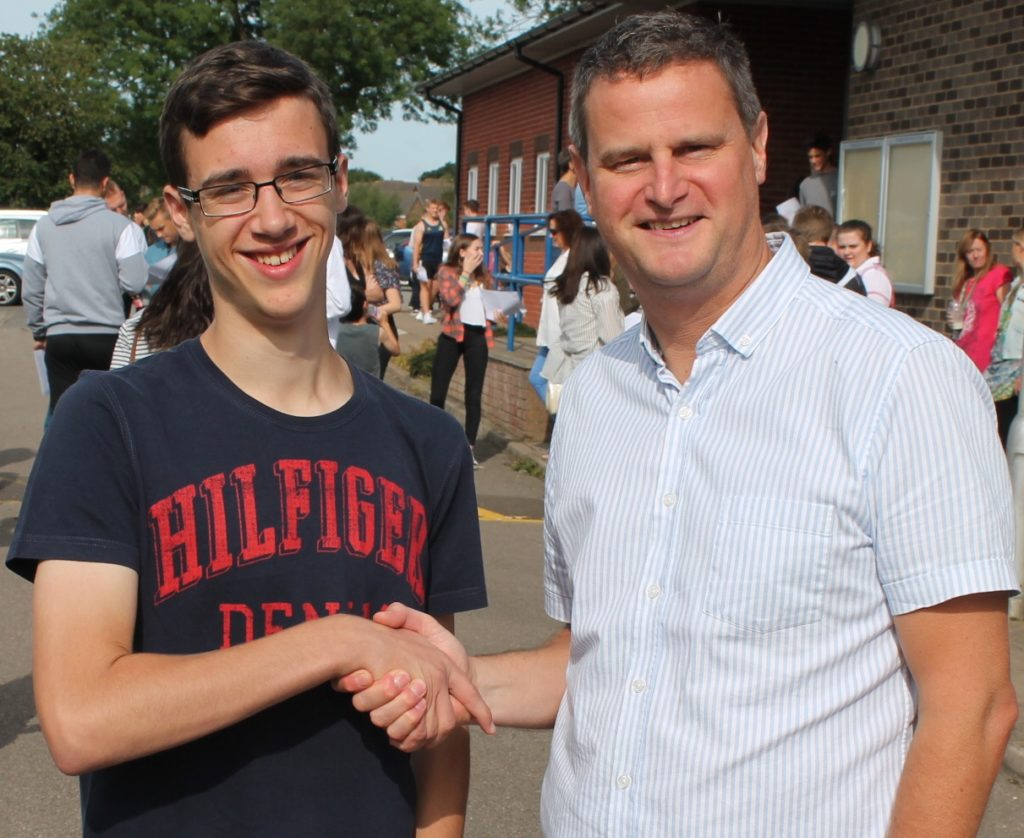 Alex Wayland celebrates his outstanding results